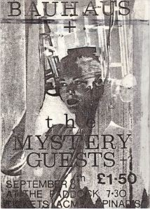 1979-09-08 – The Mystery Guests / Bauhaus @ The Paddock, Northampton