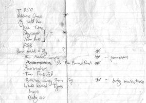 De-Go-Tees - Alex Green's setlist